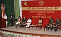 Mohd. Hamid Ansari addressing at the birth centenary celebrations on late Brigadier Md. Usman, in New Delhi. The Defence Minister, Shri A. K. Antony and the Chief of Army Staff, General Bikram Singh are also seen.jpg