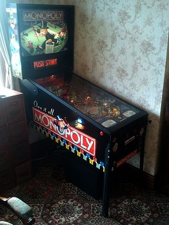 Monopoly (pinball) - General oblique overall photo of cabinet.