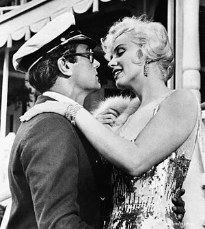 Tony Curtis - Curtis with Marilyn Monroe in Some Like It Hot