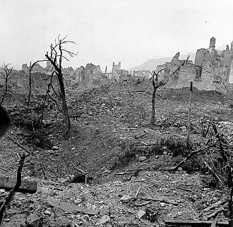 Cassino - Ruins of Cassino after the bombing.