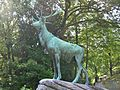 Monument to Edward Leach (Elk Statue by Eli Harvey), Riverside Cemetery, Waterbury, CT - September 2014.JPG