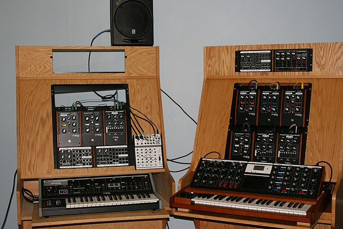 Moog synthesizers in 2007 Moog Music products in 2007.jpg