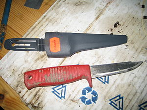 Mora knife - Modern Mora knives are often used in construction work