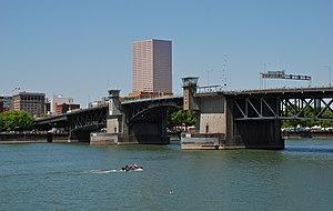 Morrison Bridge - Viewed from the Eastbank Esplanade