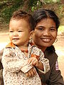 Mother and Child - Neak Pean - Angkor - Cambodia.JPG