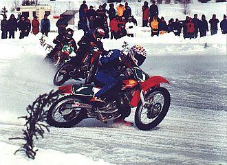 Ice racing - Motorcycle ice road racing