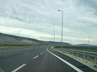 Greek National Road 6 - Image: Motorway 4 (E92), Greece