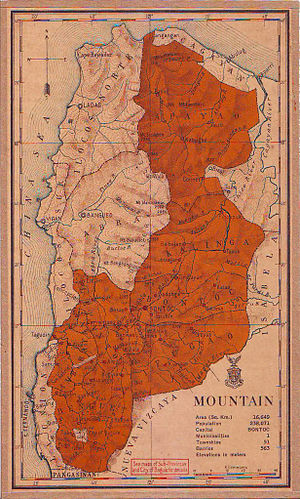Mountain Province - The province in 1918