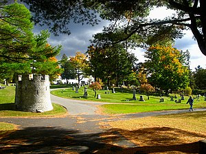 Mount Hope Cemetery (Bangor, Maine) - A view of Mount Hope Cemetery
