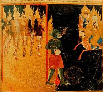 "Zabaniyya - Image: Muhammad and ""mocking women"" in Hell"