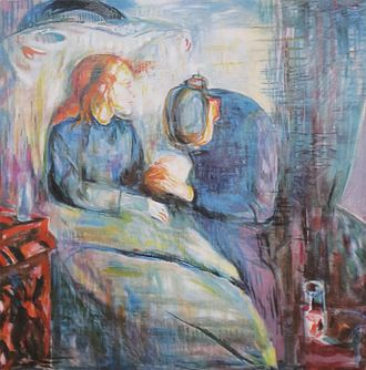 The Sick Child - Edvard Munch, The Sick Child, 1925. 5th in the series. Oil on canvas, 117 × 118 cm. Munch Museum, Oslo.