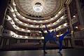 Munich - Two dancers lit in blue rehearsing - 7905.jpg