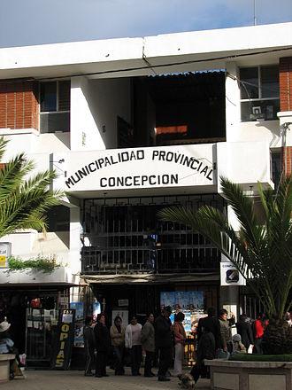 Concepción Province, Peru - Image: Municipalidad Peru Junín Concepción Concepción