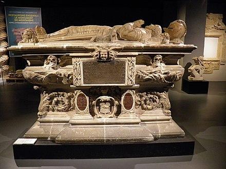 Cenotaph of Michel de Montaigne, Museum of Aquitaine, Bordeaux.