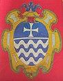 Museo di s. chiara, stemma a ricamo in seta, xvii sec.JPG
