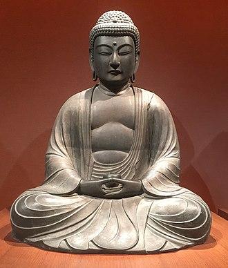 National Museum of Ethnology (Netherlands) - Image: Museum Volkenkunde Buddha Yakushi Nyorai