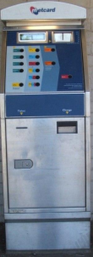 Metcard - A 'small' MVM 1 Metcard vending machine