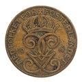 Mynt av brons frånsida, 1915. Fem öre - Skoklosters slott - 108661.tif