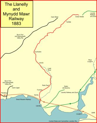Llanelly and Mynydd Mawr Railway - The Llanelly and Mynydd Mawr Railway