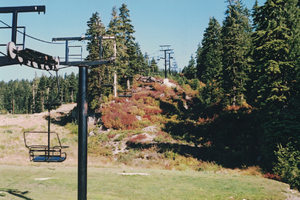 Mount Seymour - The original Mystery Peak chairlift, early 2000s.
