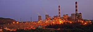 Simhadri Super Thermal Power Station - View of NTPC Simhadri Super thermal power plant
