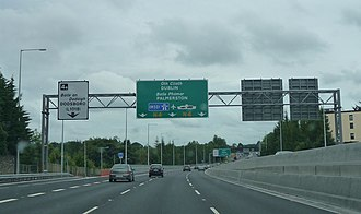 N4 road (Ireland) - Travelling East along the upgraded Lucan Bypass in west Dublin.