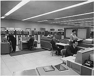 Data center - NASA mission control computer room circa 1962