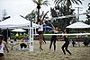 NCAA beach volleyball match at Stanford in 2016 (25869629844).jpg