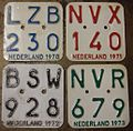 NETHERLANDS 1970-71-72-73 -MOPED-SCOOTER PLATES - Flickr - woody1778a.jpg