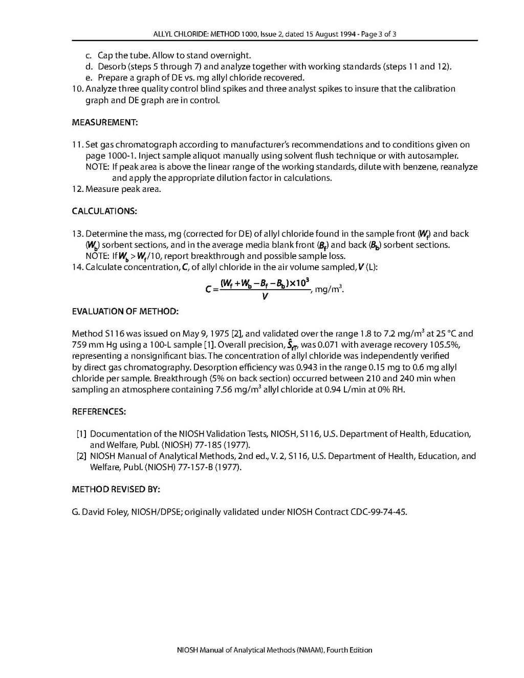 Page:NIOSH Manual of Analytical Methods - 1000 pdf/3