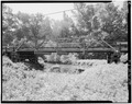 NORTHEAST ELEVATION - Saluda County Bridge No. 4, Road S-26 spanning Clouds Creek, Jones Crossroads, Saluda County, SC HAER SC,41-JOCRO.V,1-2.tif