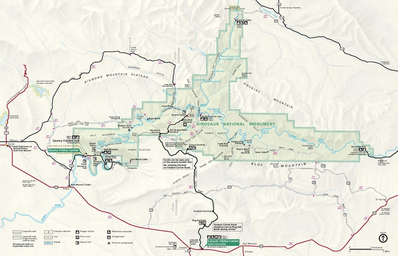 Dinosaur National Monument Map File:NPS dinosaur national monument map.pdf   Wikimedia Commons