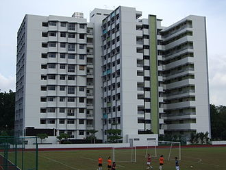 NUS High School of Math and Science - NUS High School Residence Twin-Building (January 2009)