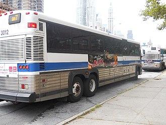 QM1 and QM1A buses - A QM7 in Lower Manhattan.
