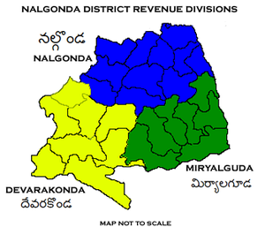 Nalgonda district - Nalgonda District Revenue divisions