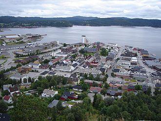 Namsos - Image: Namsos from Klompen