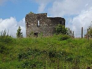Nantyglo Round Towers - the ruin
