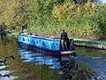 Narrowboat on the Bridgewater Canal at Halton Road, Runcorn.JPG