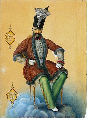 Naser al-Din Shah Qajar - Naser al-Din Shah by Abul Hasan Ghaffari, 1854