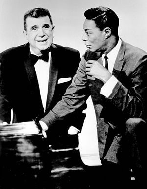 Ken Murray (entertainer) - Publicity photo with Nat King Cole from the television program The Hollywood Palace (1964)