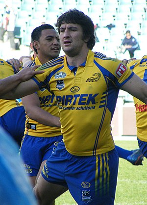 Nathan Hindmarsh - Hindmarsh playing for Parramatta in 2008