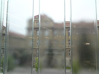 Czech National Library of Technology - Image: National Technical Library Prague facade from inside
