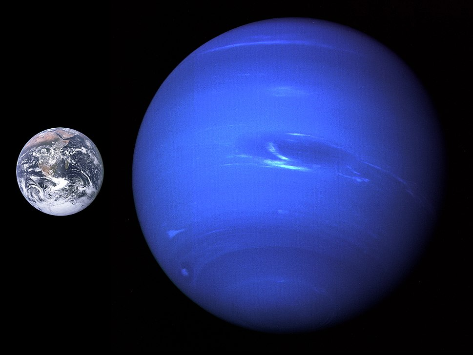Neptune, Earth size comparison 2