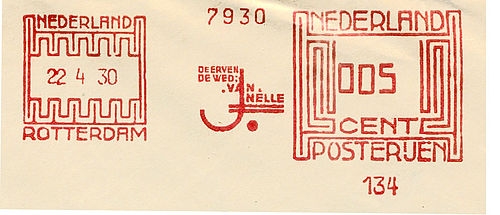 Netherlands stamp type B1.jpg