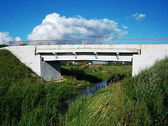 Traupis - Image: Nevėžio tiltas Traupyje
