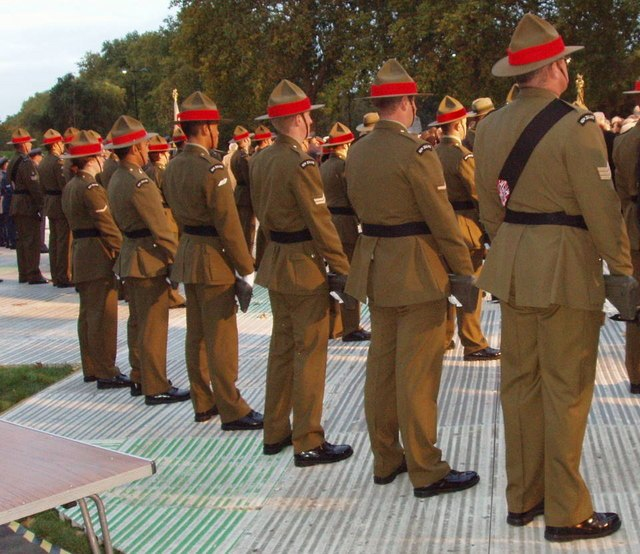 New Zealand Army at memorial dedication, Hyde Park - geograph.org.uk - 278849