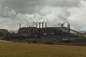 New Zealand Steel - The Glenbrook Steel Mill's iron plant.