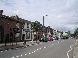 Newton-le-Willows Town in England