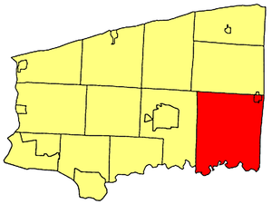 Royalton, New York - Location within Niagara County.