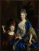 Nicolas de Largillière - Portrait of Catherine Coustard (1673-1728), Marquise of Castelnau, Wife of Charles-Léonor Aubry (1667-1735) with her Son Léonor (1695-1770) - 77.26 - Minneapolis Institute of Arts.jpg